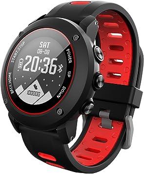 OOLIFENG GPS Deporte Reloj Inteligente, Fitness Tracker con Altímetro Barómetro Brújula Pulsómetros IP68 Impermeable ...