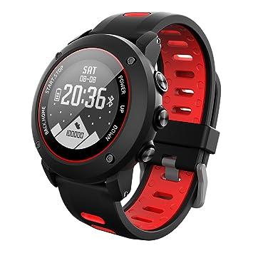 OOLIFENG GPS Deporte Reloj Inteligente, Fitness Tracker Con Altímetro Barómetro Brújula Pulsómetros IP68 Impermeable Digital Reloj Para Deportes Al Aire ...