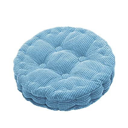Amazon Com Outdoor Round Seat Cushions Epe Cotton Filled Boosted Cushion Indoor Chair Cushions For Home Office Kitchen Blue  72x 3 Home