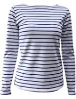 Lasher Women's Long Sleeve Striped Pattern T-shirt