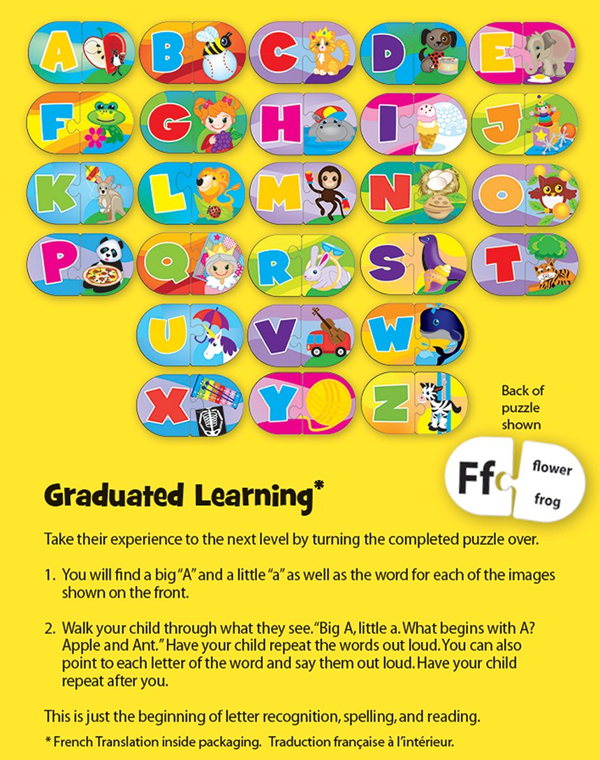 Amazon Masterpieces Mini Learning Games Alphabet 52 Piece