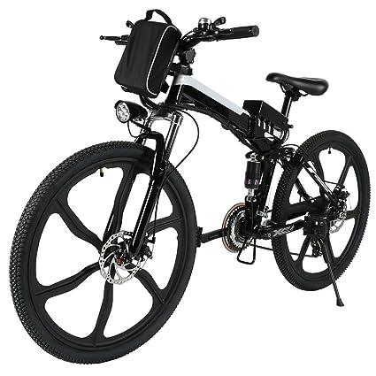 Teamyy Bicicleta Plegable El%C3%A9ctrica Velocidad