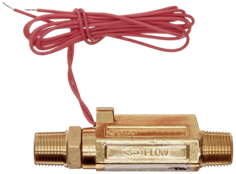 Gems Sensors FS-380 Series Brass High Pressure Flow Switch, Inline, Piston Type, 0.5 gpm Flow Setting, 1/2'' NPT Male by Gems Sensors (Image #2)