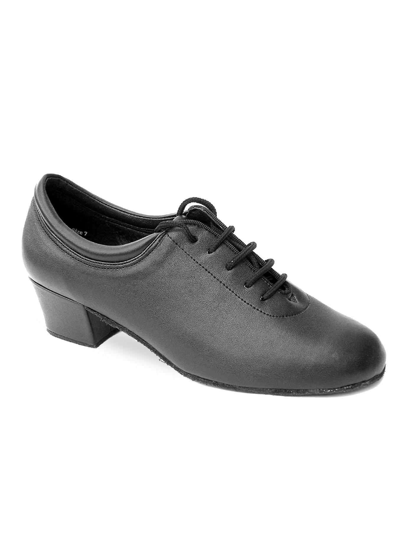 Ladies Practice/Cuban- Classic Ballroom Shoes,2601BL15075,Black Leather,7.5