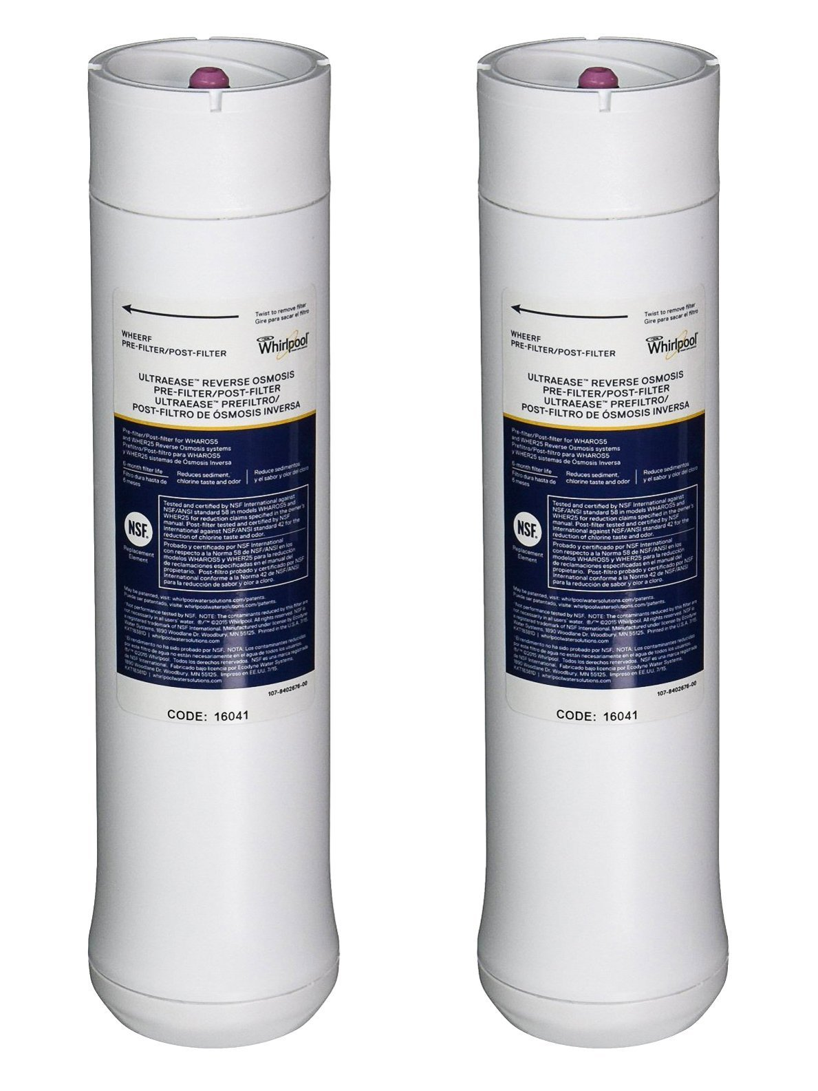 Whirlpool Wheerf Replacement Pre Postfilter Set For Wher25