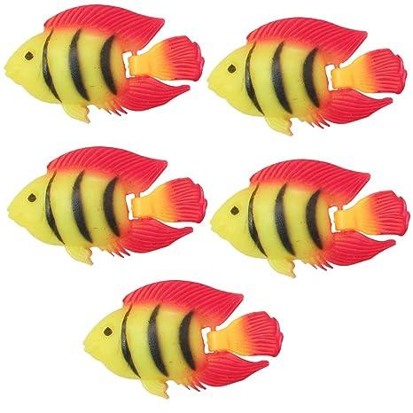 Tira de 5pcs Acuario Tanque de plástico flotante peces tropicales