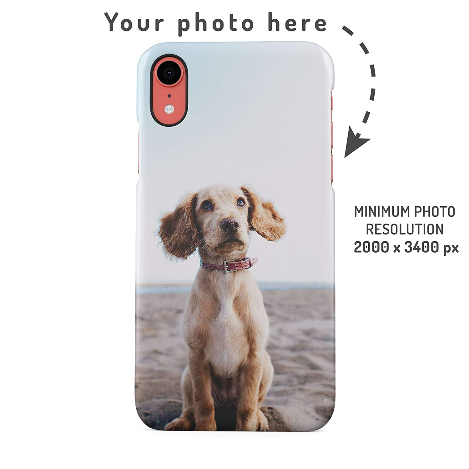 6d8413d1 Amazon.com: Personalised Custom Photo Create Your Own Image Phone Case  Design Make Your Own Print Protective Hard Plastic Case Cover for iPhone  XR: Cell ...