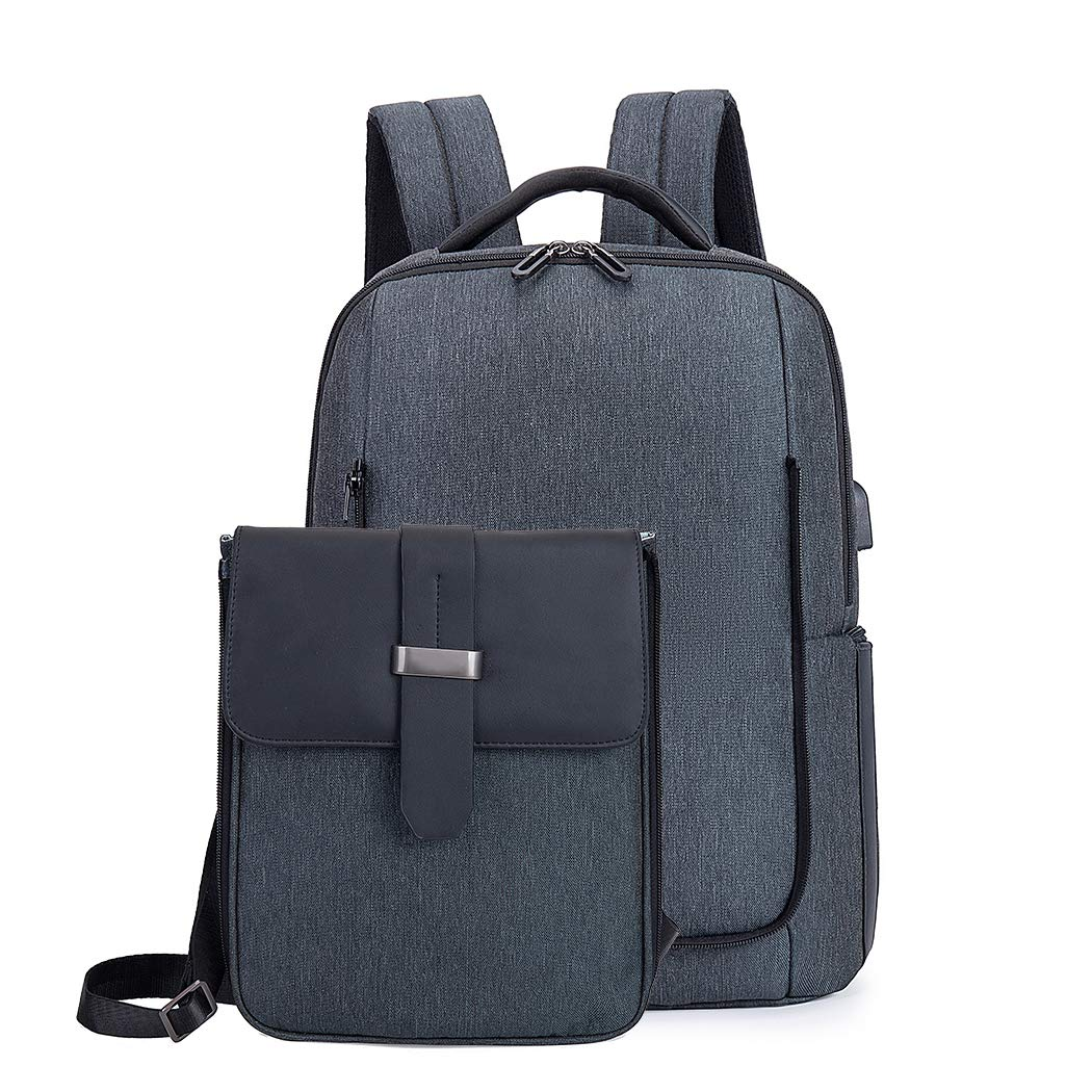 FantasyBear 15.6 Laptop Anti-theft Business Backpack,Multifunction Durable Waterproof Messenger Backpack for men and women