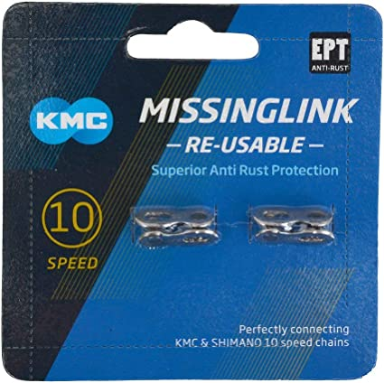 gobike88 KMC CL559R missing link for 10 speed Silver Re-Usable 323 2 pairs