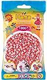 Hama - 207-06 - Loisirs Créatifs  - Perles et Bijoux  - Sachet 1000 Perles Rose