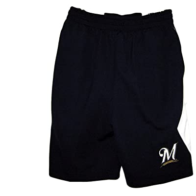 Milwaukee Brewers Navy Blue MLB Youth Stitched Shorts