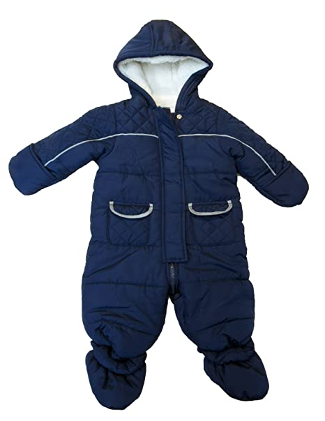 c0e88a3a37b4 First Impressions Baby Boys  Quilted Snowsuit with Faux Fur Trim (3 ...