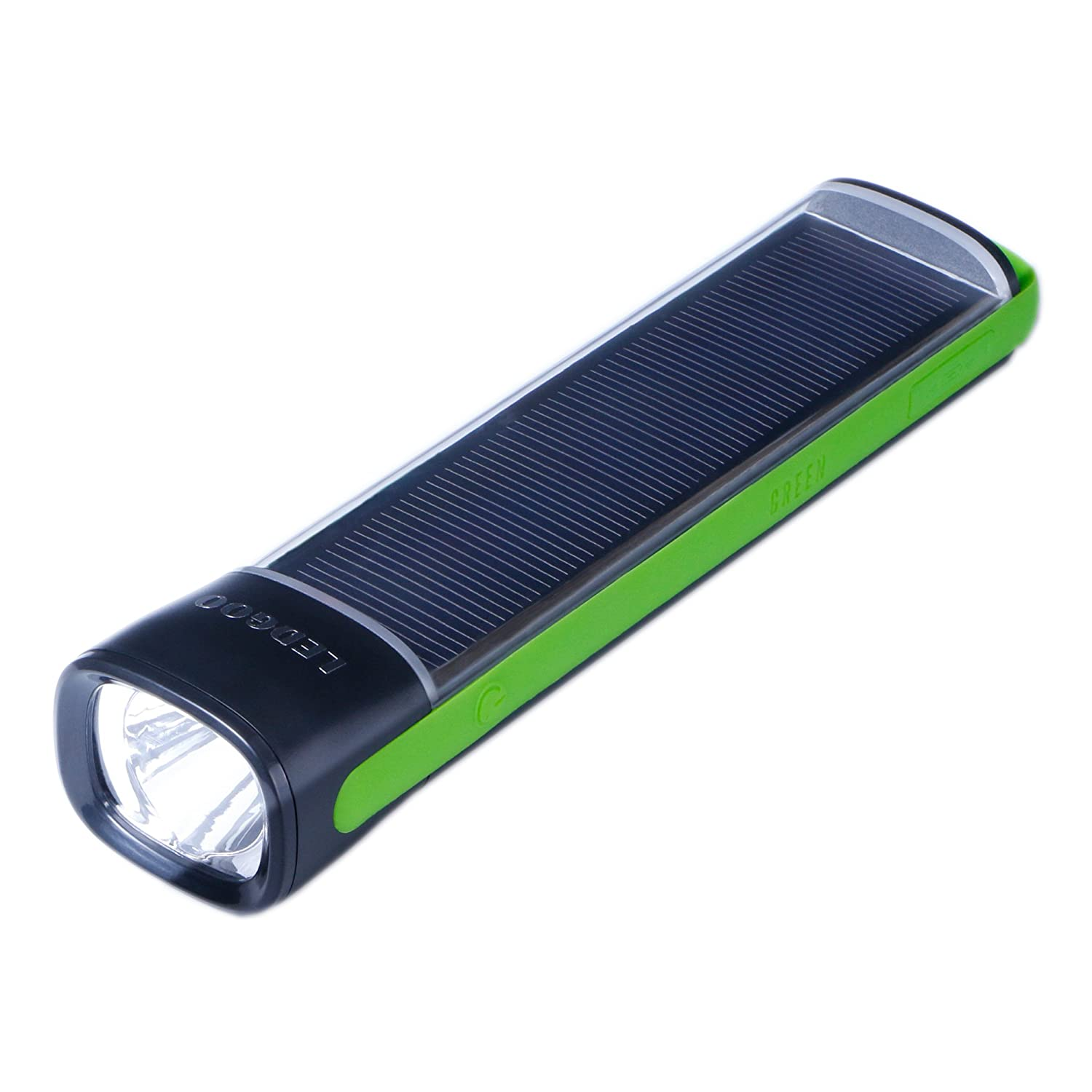 Ledgoo outdoor solar powered flashlight torch with 4000mah - Exterior light with battery backup ...