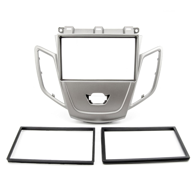 JA8 2013/Argent Kit de fa/çade dautoradio Double DIN pour Ford Fiesta MK7/ 2008