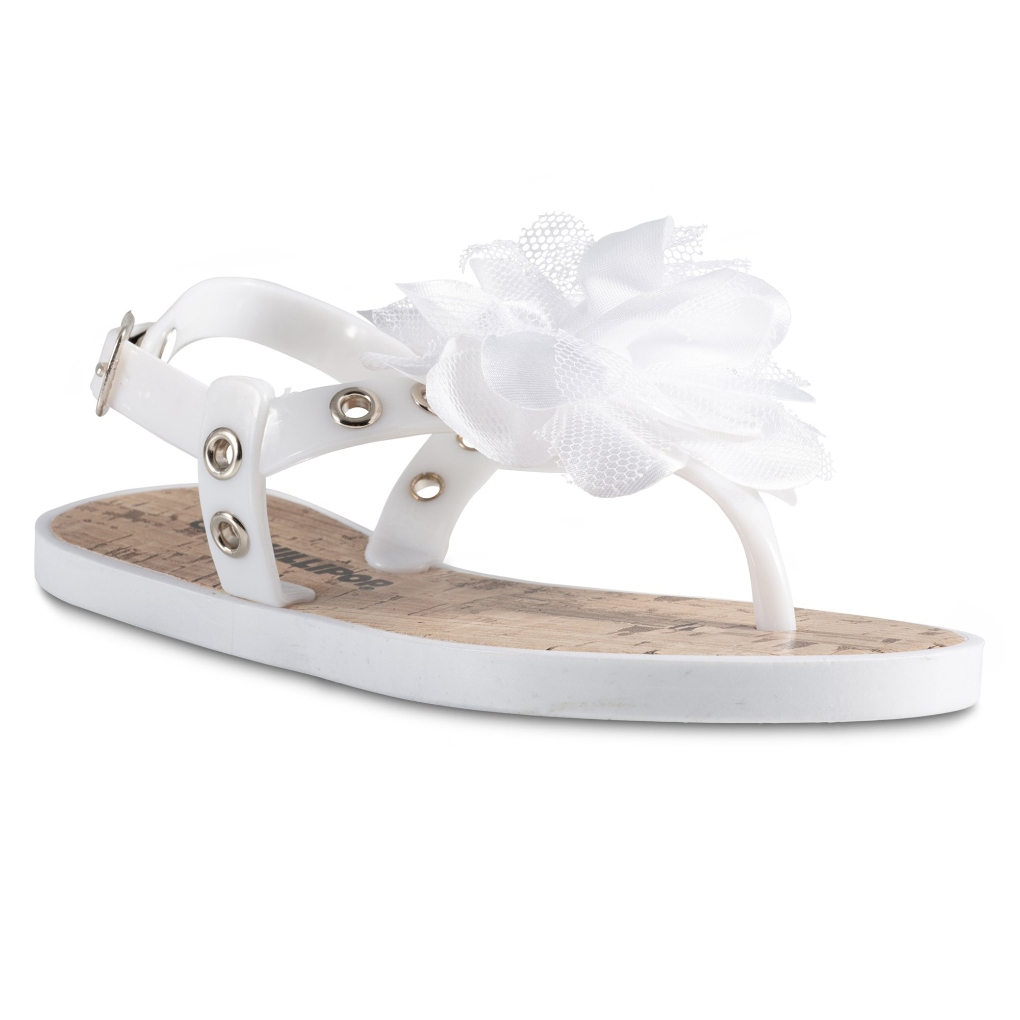 Chillipop Cork Airblown Flower Sandals for Toddler Girls, Available in All Sizes