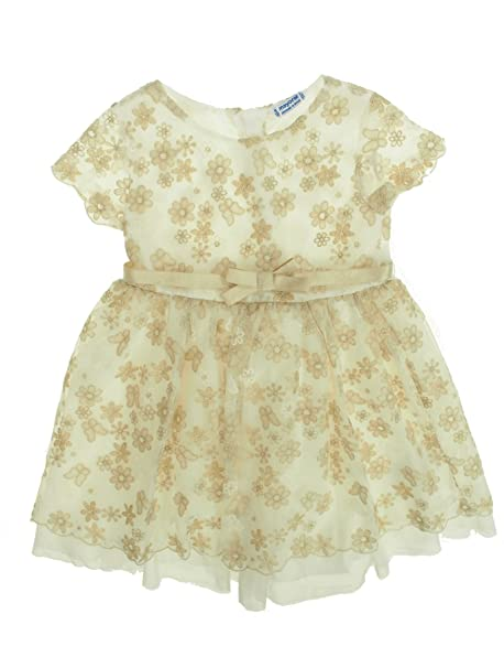Mayoral 28-03918-023 - Vestido para niña 2 años Crudo