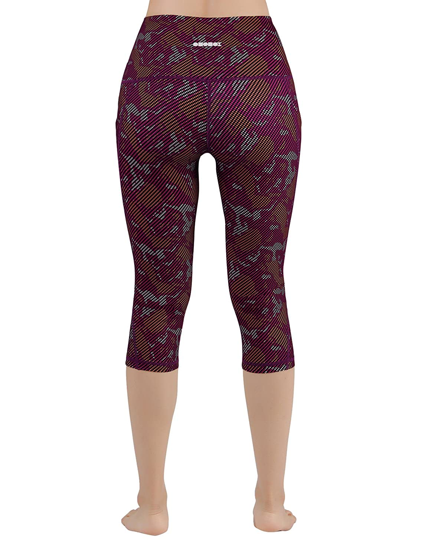 68ebc6fca1308 Amazon.com: ODODOS High Waist Out Pocket Printed Yoga Pants Tummy Control  Workout Running 4 Way Stretch Yoga Leggings: Clothing