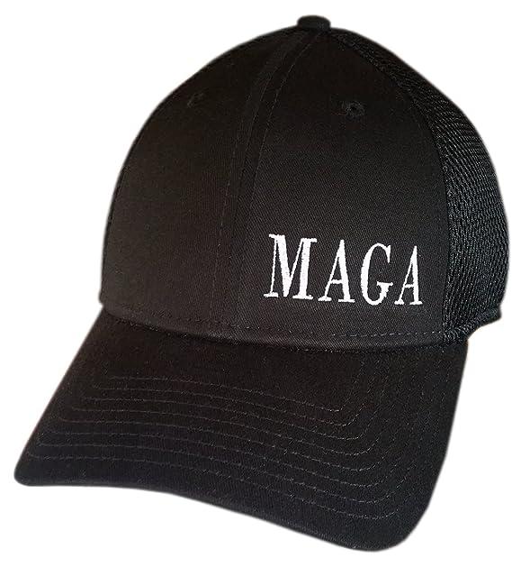 752b2ebe MAGA ~ NEW ERA STRUCTURED MESH BACK ~ SNAPBACK Cap ~ Trump Hat (Black  STRUCTURED