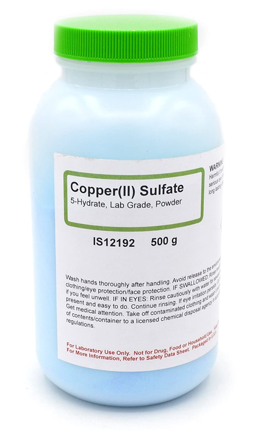 Laboratory-Grade Copper (II) Sulfate 5-Hydrate Powder, 500g - The Curated Chemical Collection