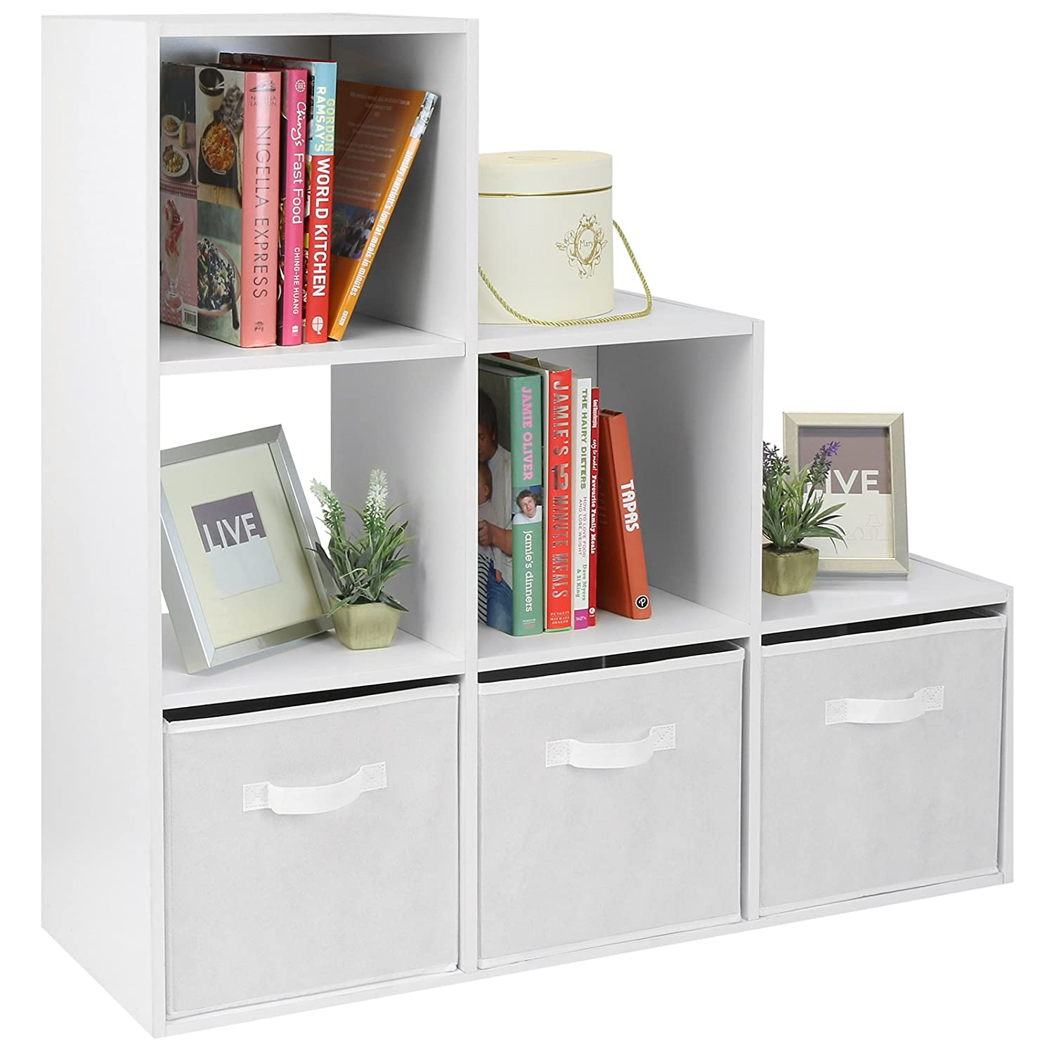 Hartleys White 6 Cube Unit & 3 White Storage Drawers