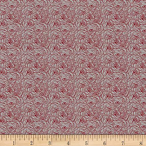 (Robert Kaufman Kaufman Tootal:Twill Overprints Rose Red, Fabric by the Yard)