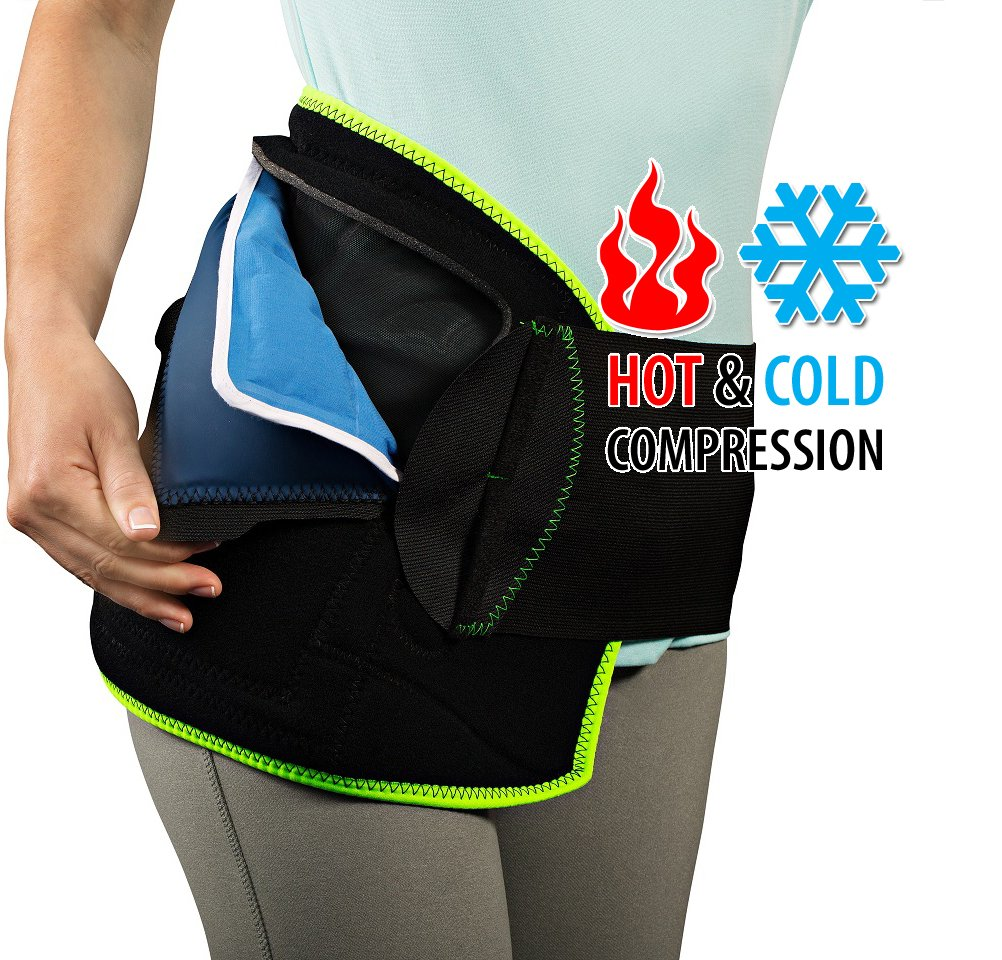 NatraCure (Hot or Cold) Hip Pain Relief Wrap - (Large/X-Large) - (For Relief from Stiff Hips, Inflammation, and Hip Surgery & Arthritis)