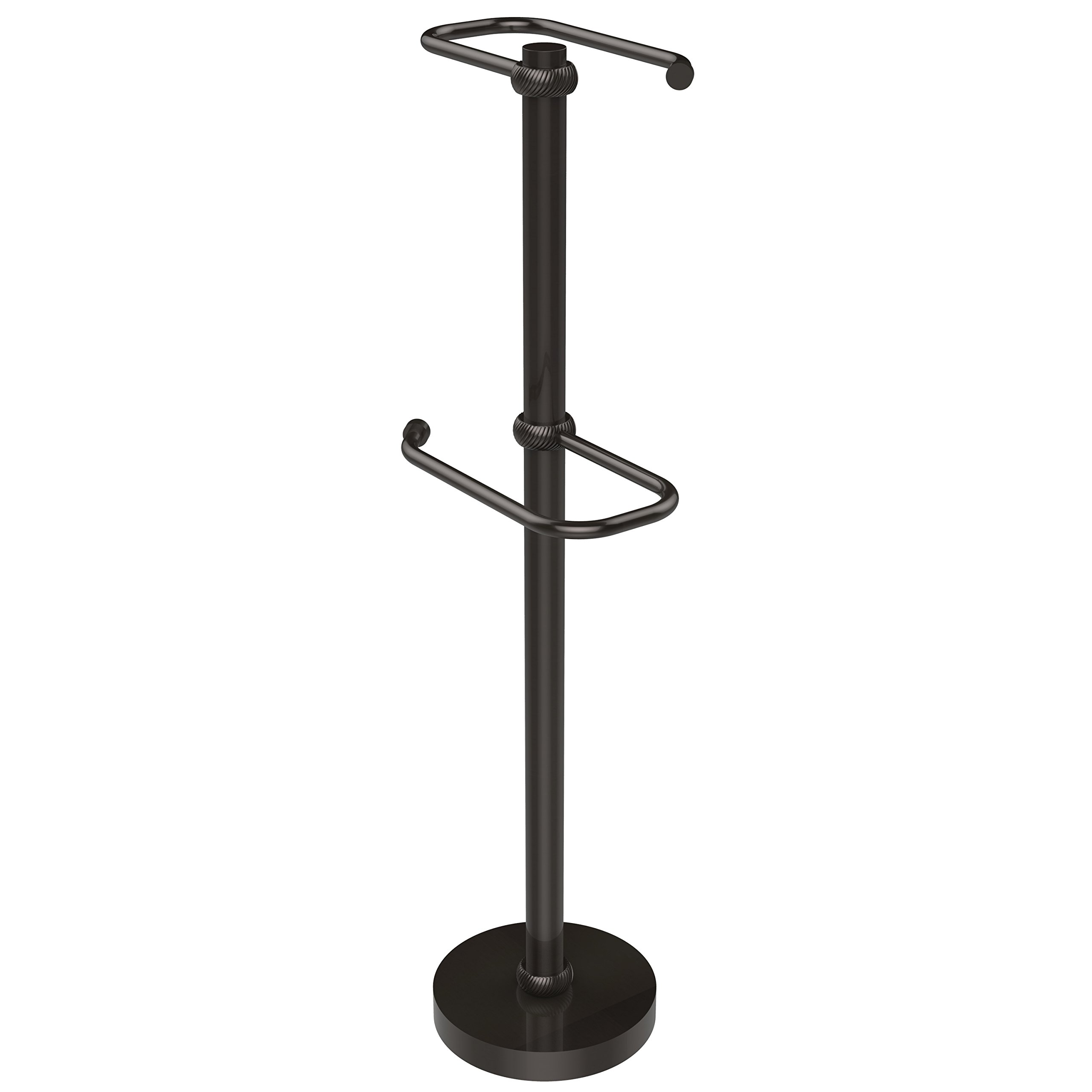 Allied Brass TS-26T-ORB Free Standing Two Roll Toilet Tissue Stand,
