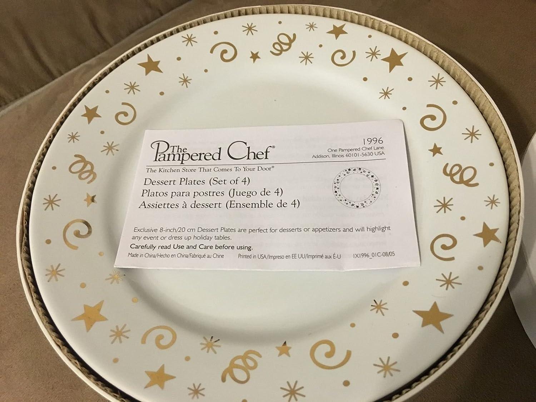 Amazon.com P&ered Chef Dessert Plates - Set of 4 in Decorative Box Kitchen \u0026 Dining & Amazon.com: Pampered Chef Dessert Plates - Set of 4 in Decorative ...