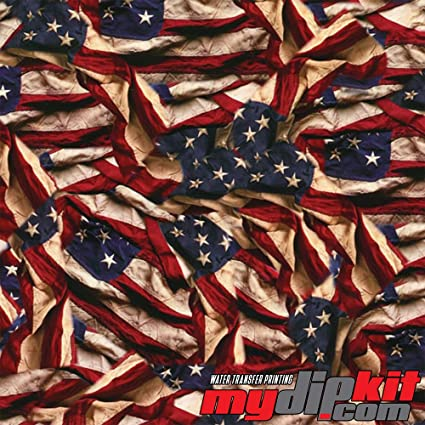 Water Transfer Printing Film - Hydrographic Film - Hydro Dipping - Respect  American Flag - LL-739-A