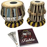 Satnam Steel Bayan Hand Crafted Professional Steel Tabla Drum Set for Student and Beginners with Tabla Set Gig Bag…