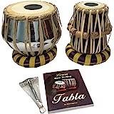 Satnam Steel Bayan Hand Crafted Professional Steel Tabla Drum Set for Student and Beginners with Tabla Set Gig Bag | Tabla Se