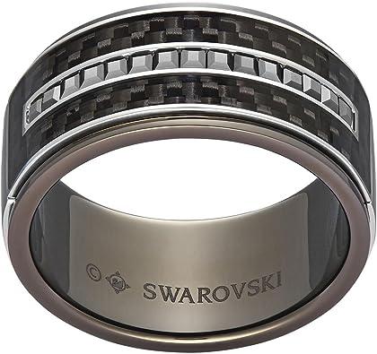 Swarovski Bague Homme Diagonal Cristal Gris Taille 66 (21.0) de ...