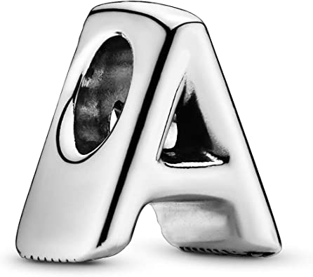 Amazon Com Pandora Jewelry Letter A Sterling Silver Charm Clothing