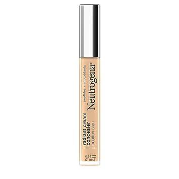 Neutrogena Healthy Skin Radiant Brightening Cream Concealer with Peptides & Vitamin E Antioxidant, Lightweight Perfecting Concealer, Non-Comedogenic, Bisque Light/Medium 02 neutral undertones, 0.24 oz
