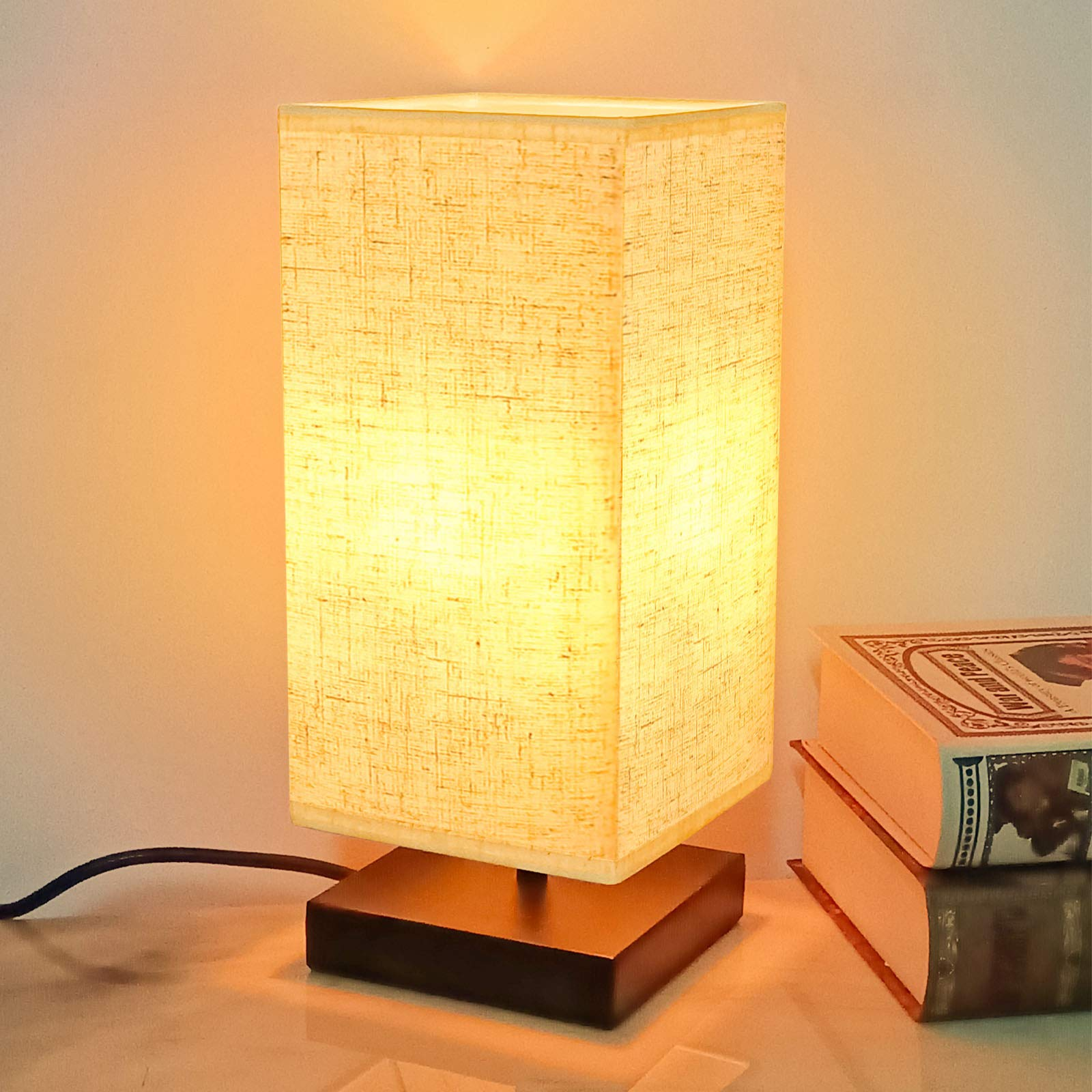 Bedside Table Lamp Modern Simple Desk Lamp Dimmer Switch Nightstand Lamps Minimalist