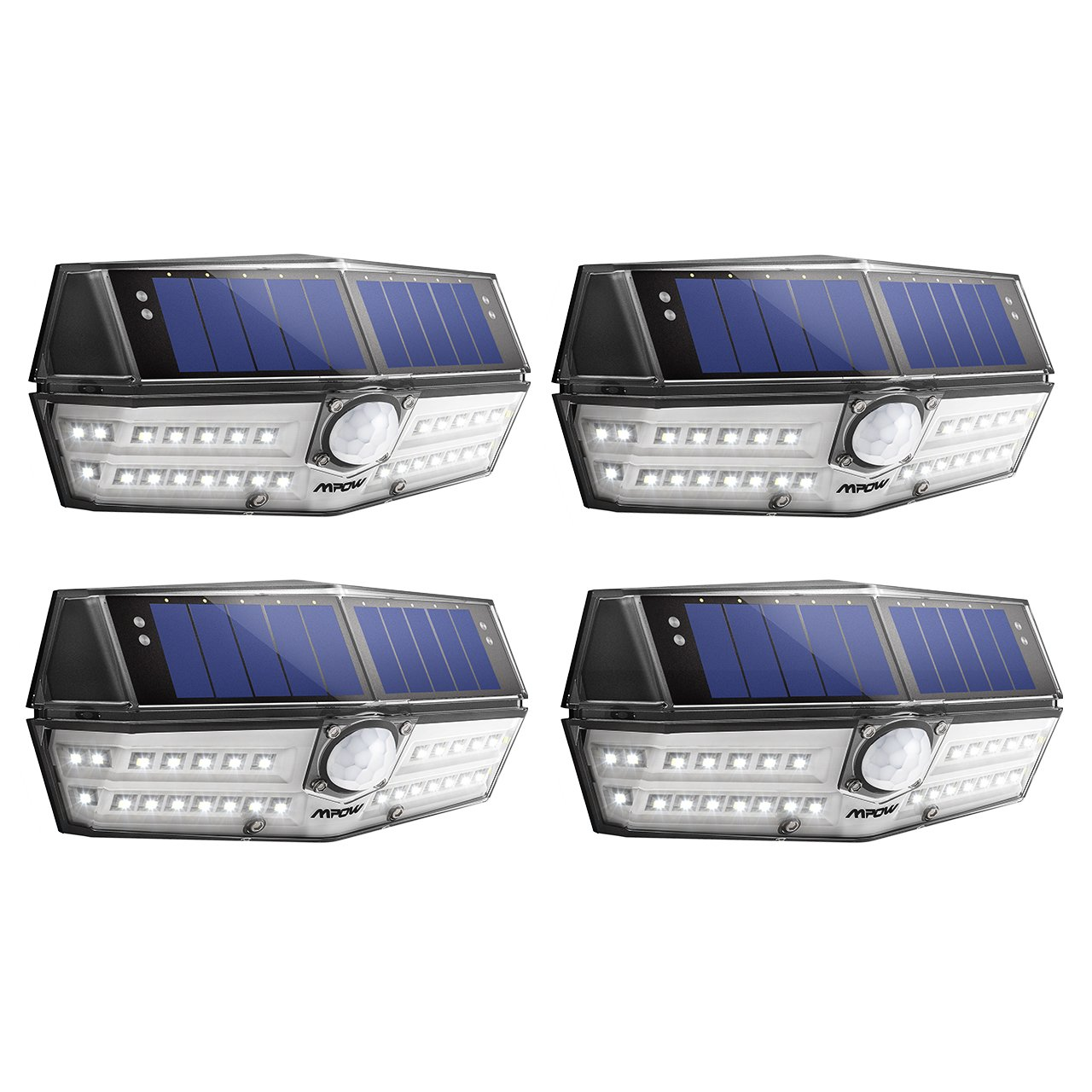 Mpow 30 LED Solar Lights, A New Generation of Motion Sensor Solar Lights, Powerful IPX6+ Waterproof, Industry-leading SunPower Solar Panel, Bright Wall Light, Upgraded 120° Wide-angle Sensor Head, 30 Enhanced LEDs for High Brightness, Great Outdoor Light