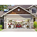 Huge Santa's Reindeer Barn Outdoor Christmas Holiday Garage Door Décor 7'x16'