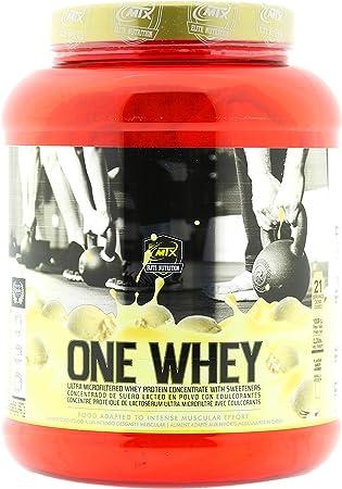MTX nutrition OneWhey [1008 kilos] 2,2 Lbs. HELADO DE VAINILLA - Proteínas de Suero Premium fabricado por Microfiltración muy bajo en lactosa, grasa