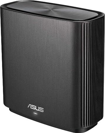 TALLA 1 Unidad. ASUS ZenWiFi-AC-CT8 - Sistema Wi-Fi Mesh Tri-Banda AC3000, cobertura de más de 225m2, AiProtection con TrendMicro de por vida, 4 puertos Gigabit, adaptive QoS, compatible con AiMesh, color negro