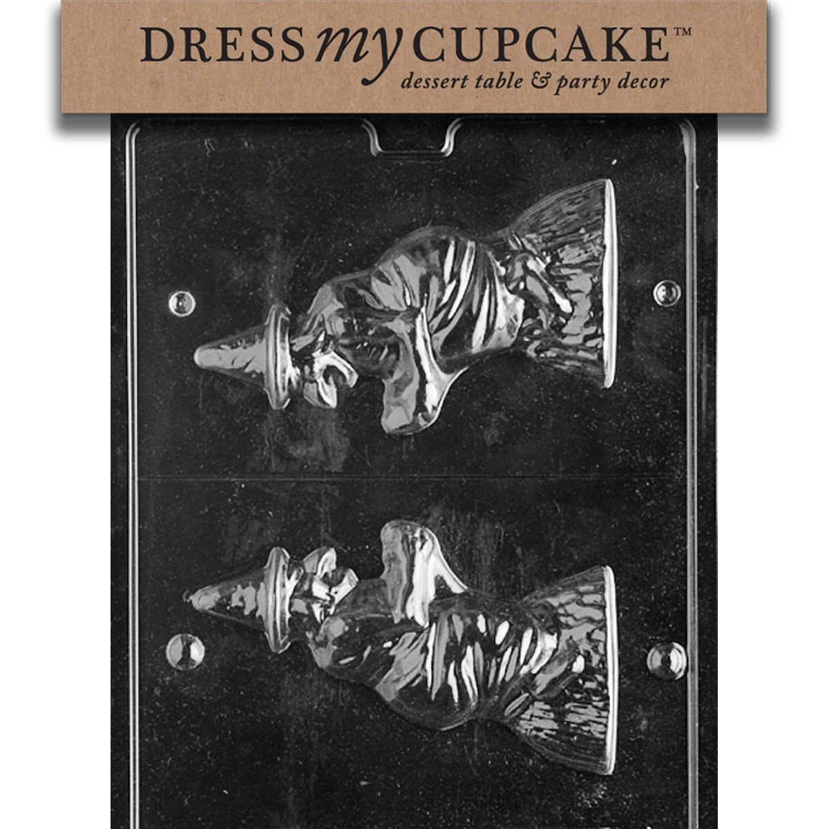 Set of 6 Dress My Cupcake DMCH074SET Chocolate Candy Mold 3D Witch