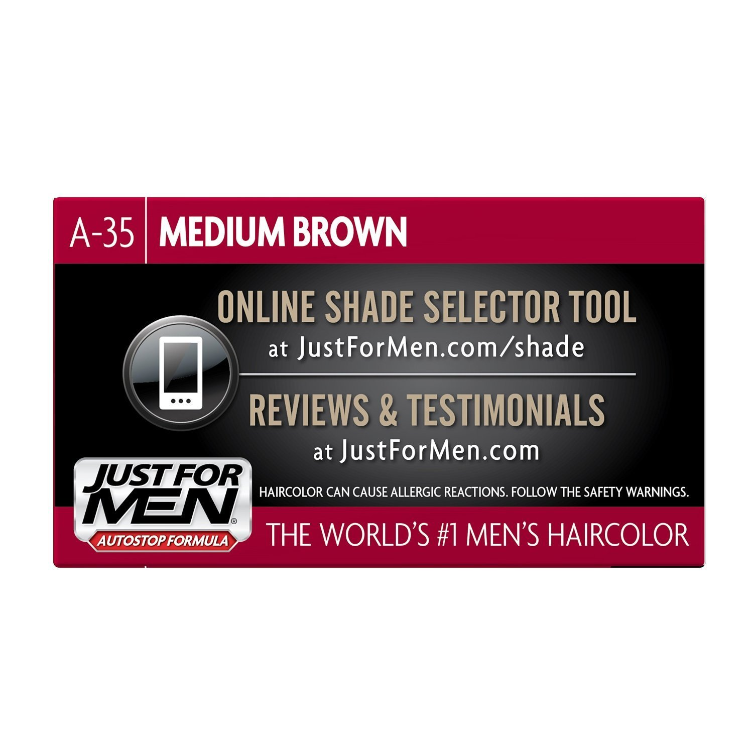 Just For Men AutoStop Men's Hair Color (6, Medium Brown) by Just for Men (Image #4)