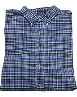 Polo Ralph Lauren Mens Big & Tall Oxford Checkered Long Sleeves Casual Shirt