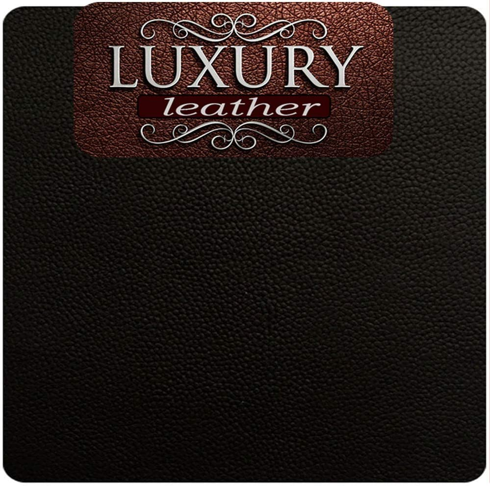 Genuine Leather and Vinyl Repair Patches Kit - Grain Self Adhesive Leather to Repair Furniture, Couch, Sofa, Jacket - Multiple Colors and Sizes Available (Black, 8'' x 11'')