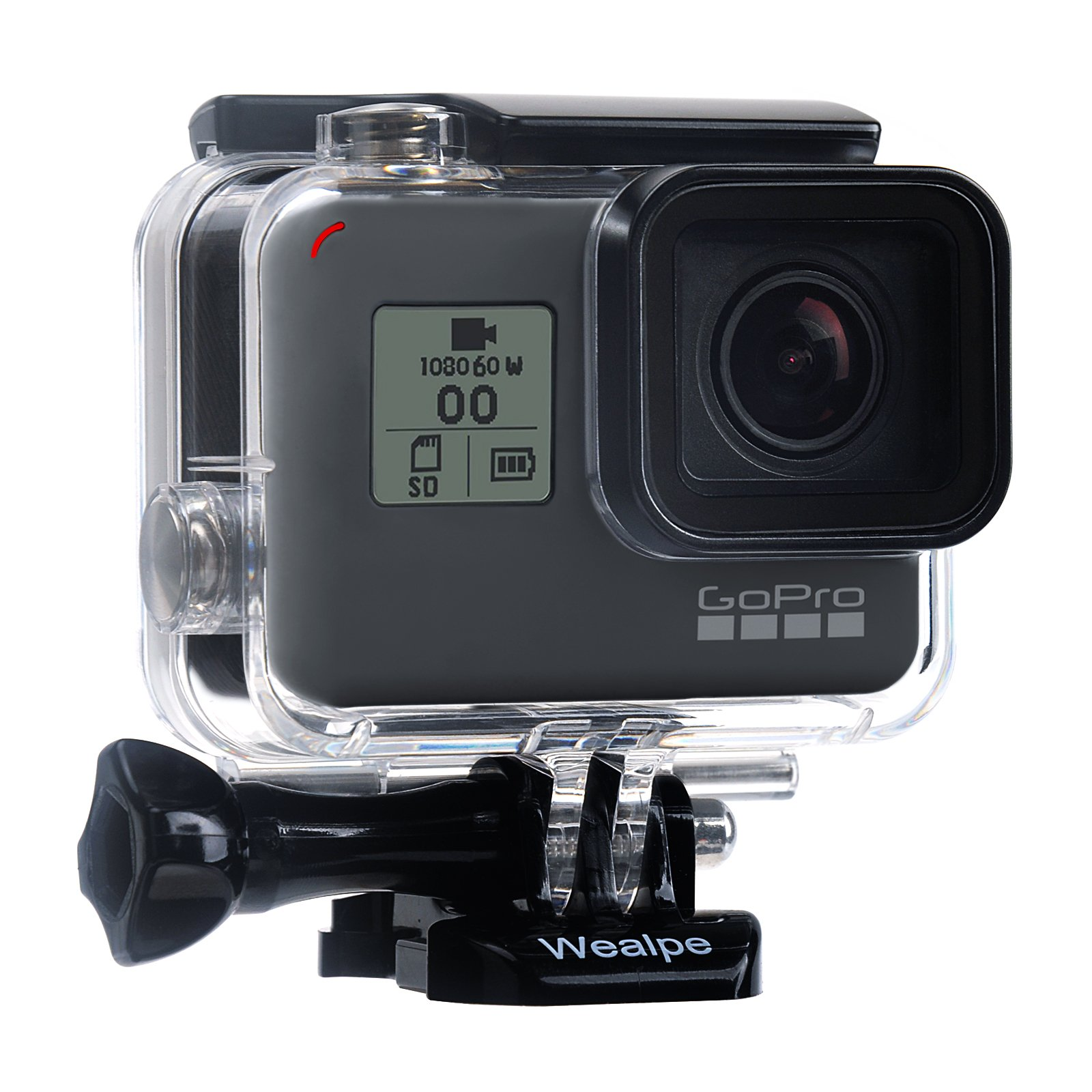 Wealpe Waterproof Housing Case Underwater Protective Dive Housing Compatible with GoPro Hero (2018), 6, 5 Cameras