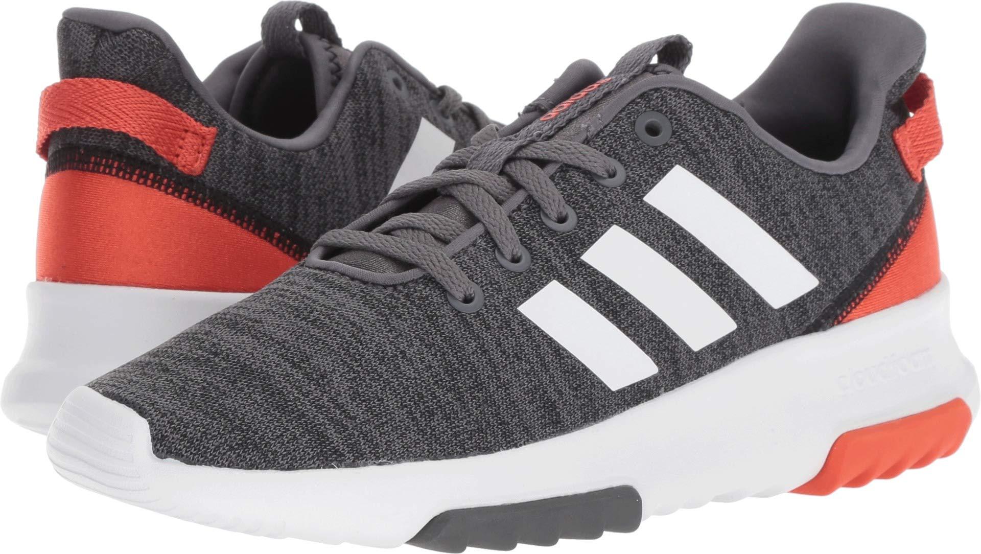 adidas Kids CF Racer TR Running Shoe, Black/White/Raw Amber, 2 M US Little Kid
