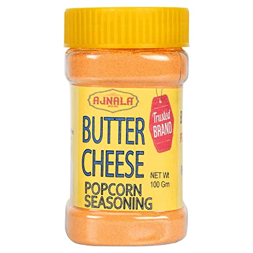 Ajnala Butter Salt Cheese Popcorn Seasoning Powder In Shaker Jar Perfect For Pop Corn Making Cheese Sauce For Nachos Sprinkling On French Fries Available In 100 200 Gm 100 Amazon In Grocery