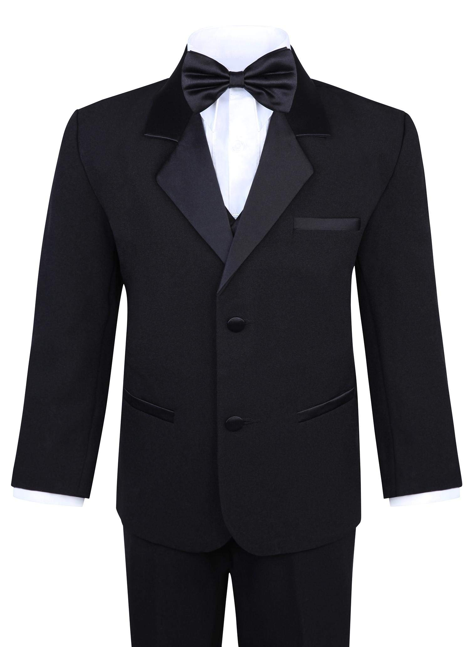 Boy's 5-Piece Tuxedo Set - Black (3T, Black)