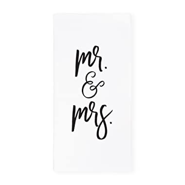 The Cotton & Canvas Co. Mr. & Mrs. Soft and Absorbent Kitchen Tea Towel, Flour Sack Towel and Dish Cloth, 1-Count