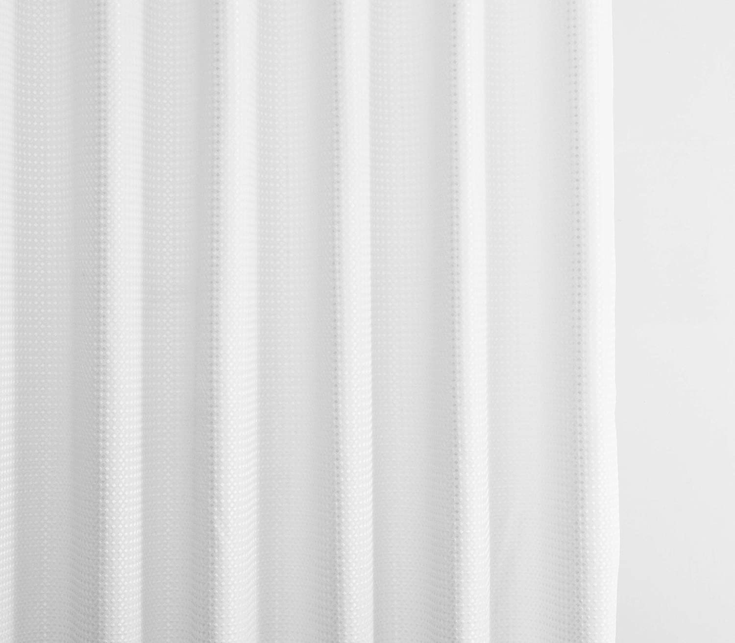 Waffle//White Classic Soft Polyester Great for Showers /& Bathtubs |Large Size Elegant White 72 x 72 White 72 x 72 Ameritex Waffle Weave Shower Curtain Fabric Decorative Bathroom Accessories Waffle//White