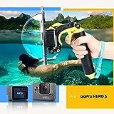 """TELESIN 4th Edition Gopro Dome Port ,6 """" Housse Etanche Avec Flottant Poignée Grip Compatible avec GoPro Hero 5"""